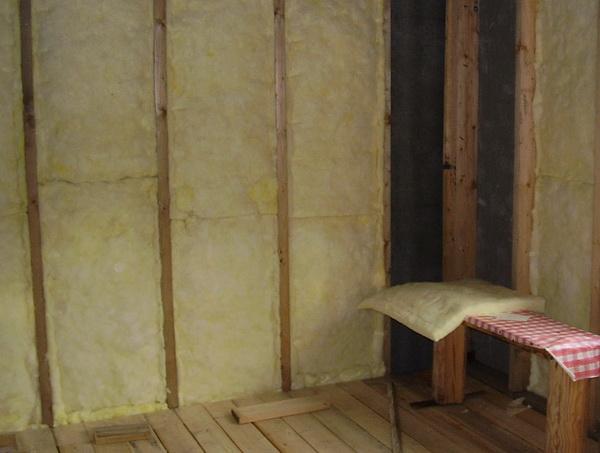 Утепление кирпичной бани изнутри минватой