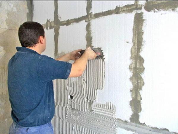 Утепление кирпичного дома изнутри пенопластом 4