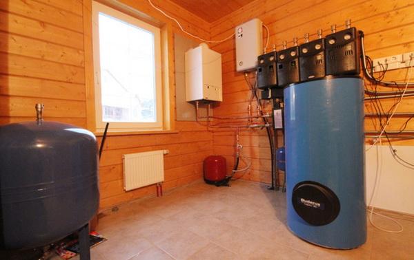 Монтаж котельного оборудования в деревянном доме 2