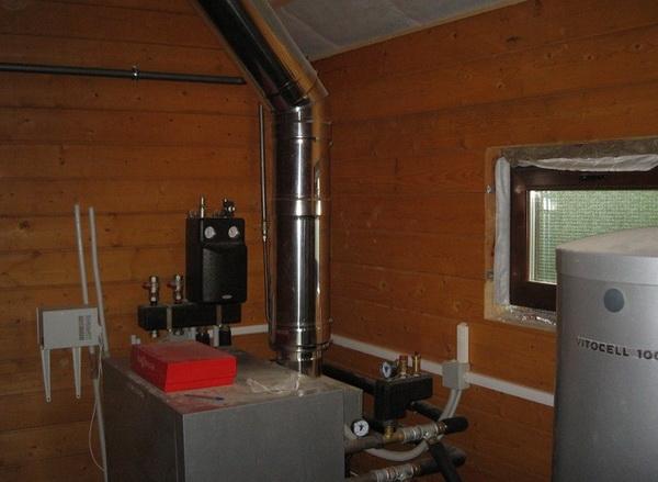 Монтаж котельного оборудования в деревянном доме 4
