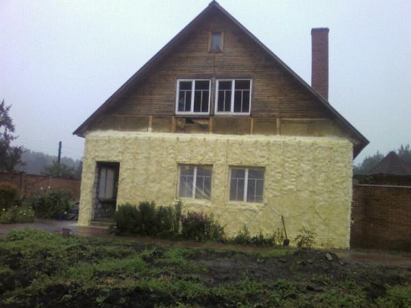 Технология утепления деревянного дома - монтаж утеплителя 5