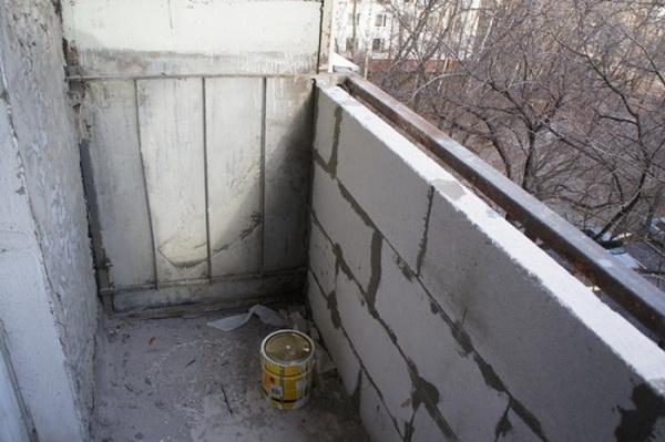 Утепление балконов и лоджий керамзитом 5