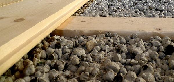 Как делать деревянный пол по грунту с утеплением керамзитом 4