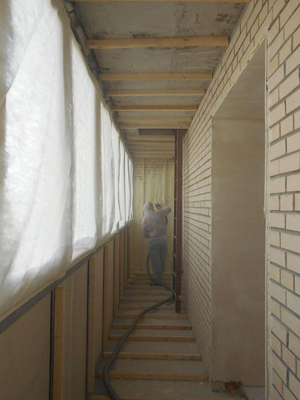 Утепляем пенополиуретаном лоджию и балкон 3