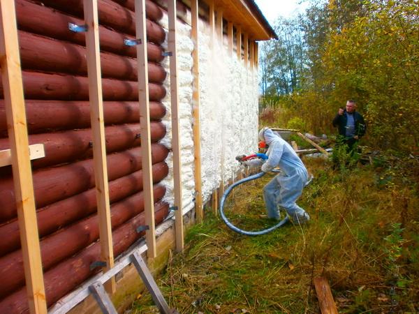 Утепляем стены дома, бани, гаража пенополиуретаном 2
