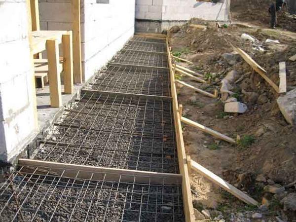 Бетонная отмостка вокруг дома - фото и характеристика бетонной отмостки с утеплением 5