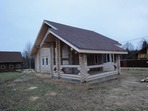 Открытая веранда к деревянному дому 2