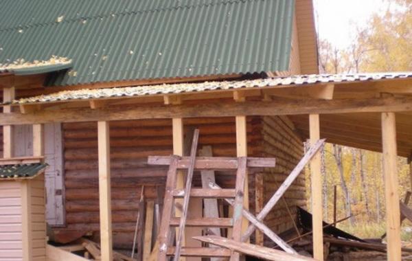 Открытая веранда к деревянному дому 4