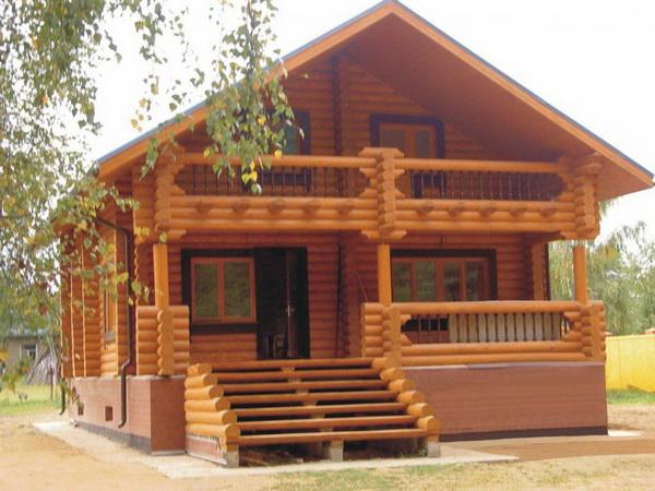 Открытая веранда к деревянному дому 5