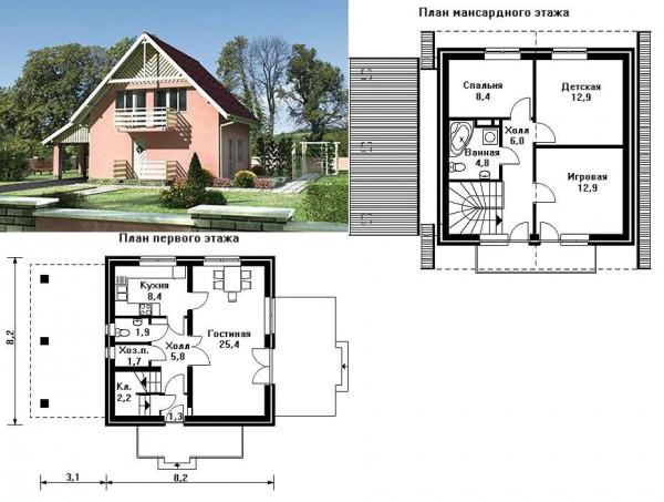 Типовые проекты домов из пеноблоков в частном строительстве 4