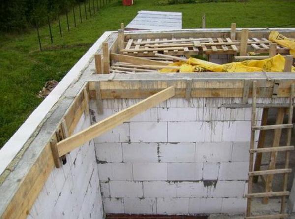 бетонное перекрытие 2 этажа в газобетонном доме