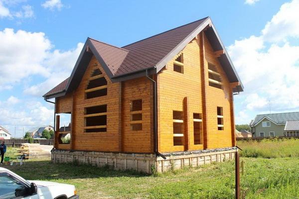 Постройка дома из сухого профилированного бруса в средней полосе России 3