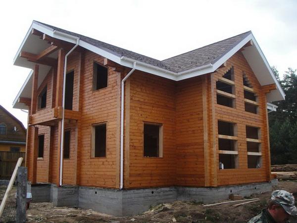 Постройка дома из сухого профилированного бруса в средней полосе России 4