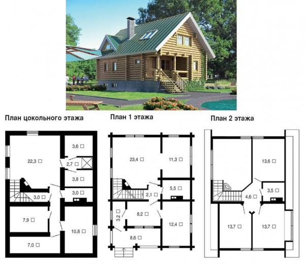 Оригинальные проекты домов с цокольным этажом 3