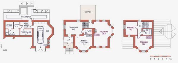 Оригинальные проекты домов с цокольным этажом 4