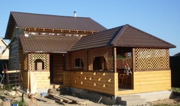 Баня с беседкой под одной крышей - новые проекты от Андрея Кольцова 3