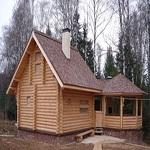 Баня с беседкой под одной крышей - новые проекты от Андрея Кольцова 1