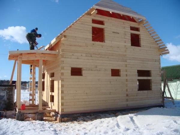Можно ли строить жилой дом из бруса зимой 3