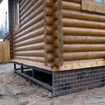 Утепление цоколя, подвала и фундамента в деревянном доме 1