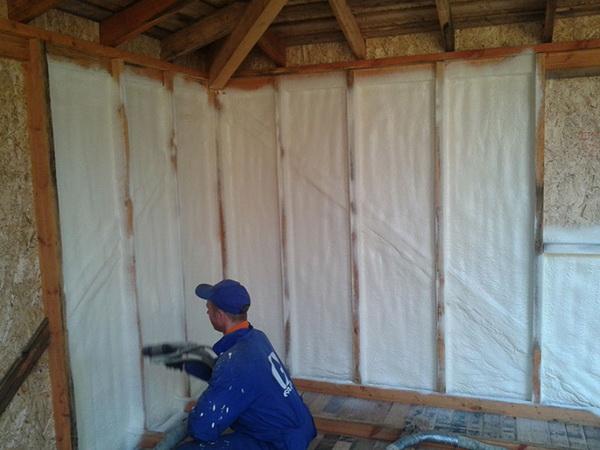 Утепляем стены дома, бани, гаража пенополиуретаном 3