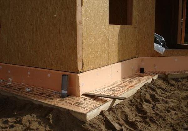 Бетонная отмостка вокруг дома - фото и характеристика бетонной отмостки с утеплением 3