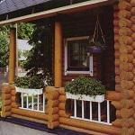 Открытая веранда к деревянному дому 1