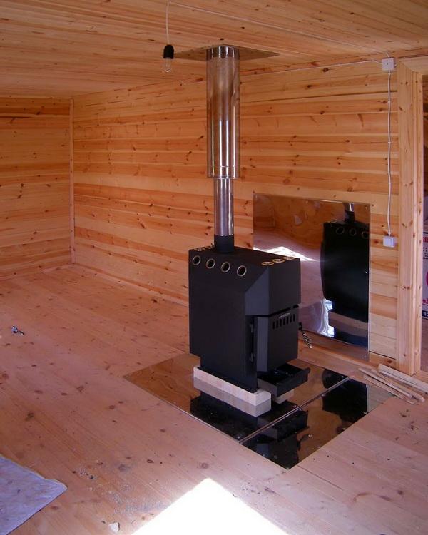 Как установить печь в деревянном доме своими руками