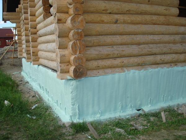 Утепление фундамента деревянного дома снаружи экструдированным пенополистиролом 2