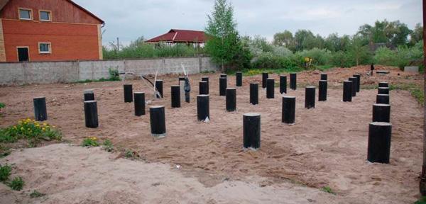 Свайно-ростверковый фундамент под газобетон - основание под стены из газобетона 5