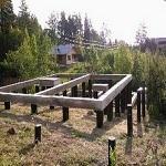 Свайно-ростверковый фундамент под газобетон - основание под стены из газобетона 1