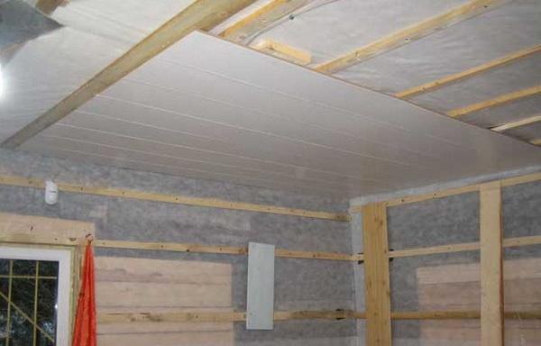 Потолок панелей пвх своими руками видео фото