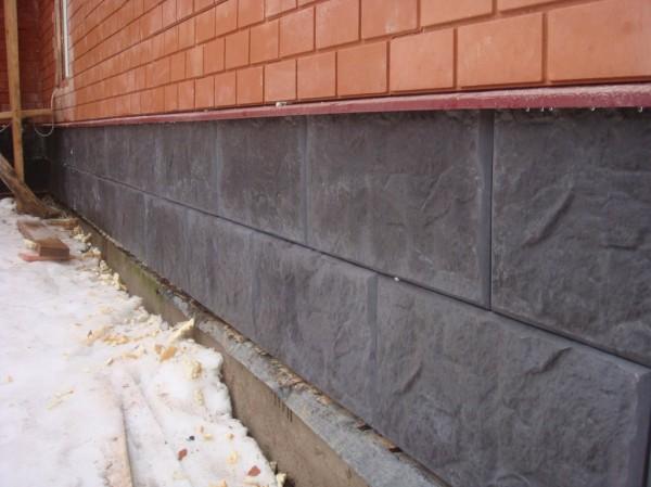 Варианты отделки фундамента дома под камень 4