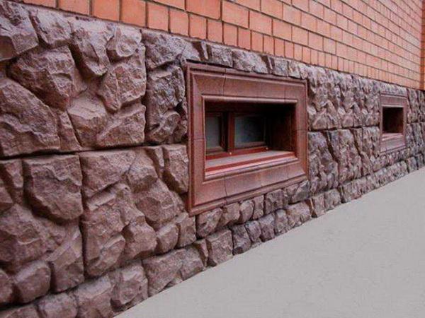 Варианты отделки фундамента дома под камень 5