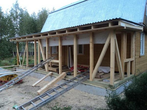 Как правильно пристроить пристройку к деревянному дому 4