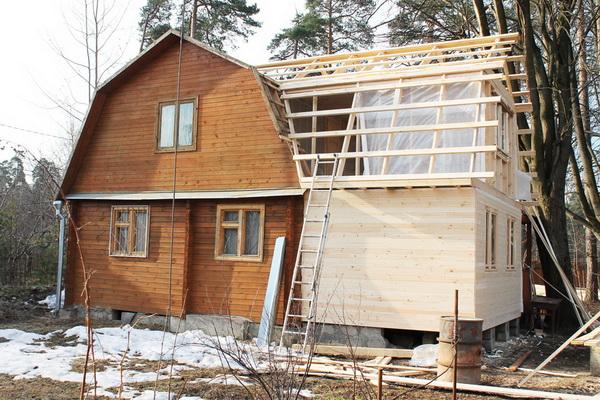 Как правильно пристроить пристройку к деревянному дому 5