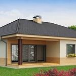 Изучаем проекты одноэтажных частных домов из газобетона 1